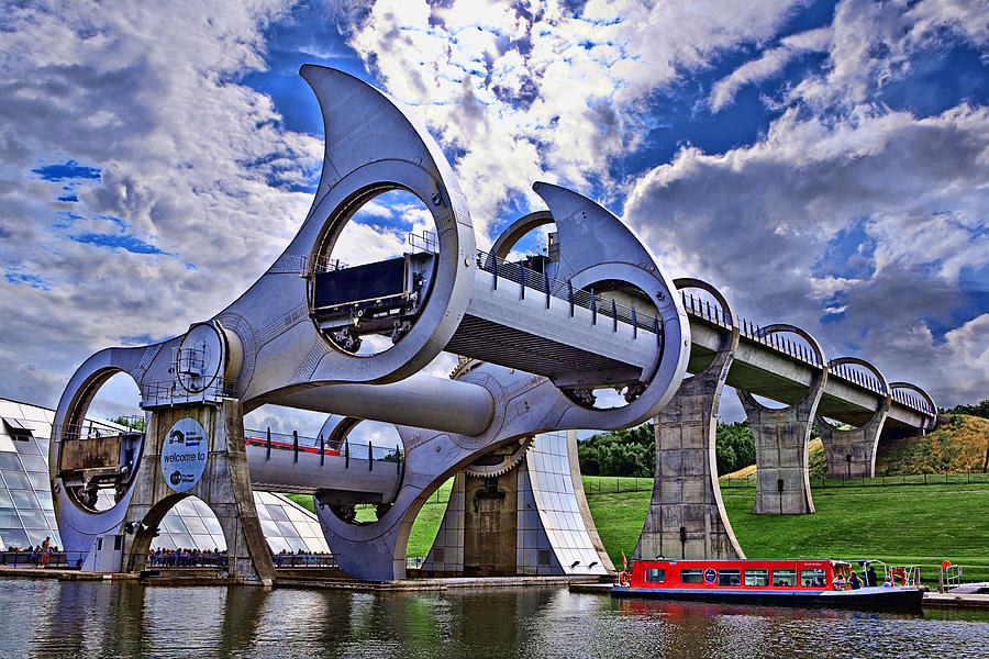 Falkirk Wheel Photograph - Falkirk Wheel by Wendy White