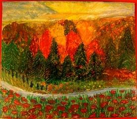 Autumn Landscape Painting - Fall Anomaly by Jeanne Mytareva