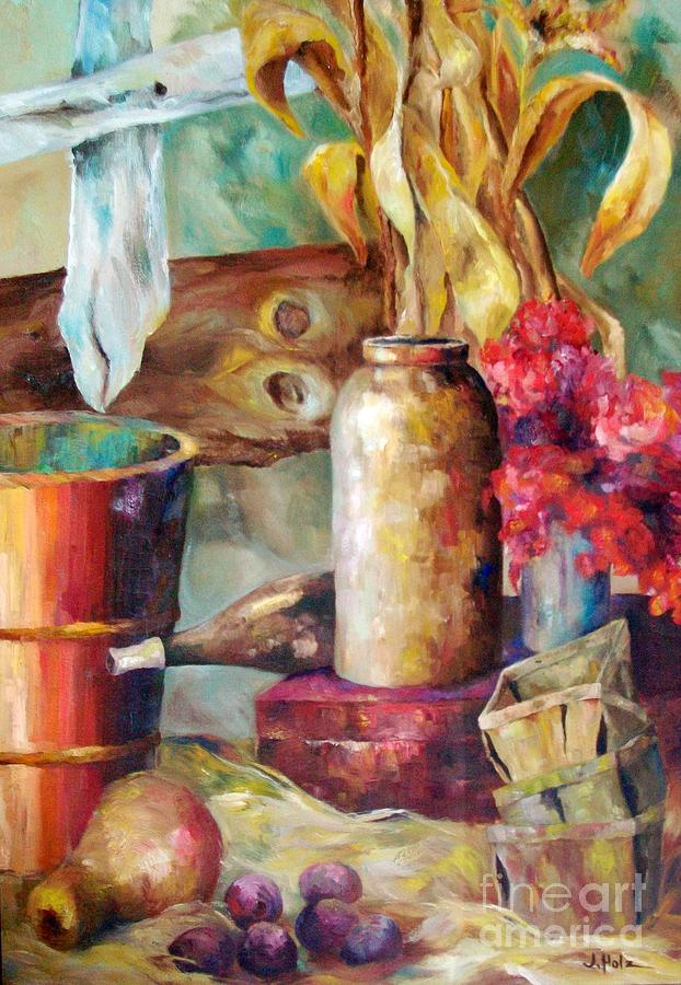 Still Life Painting - Fall At Ou by Judith A Smothers