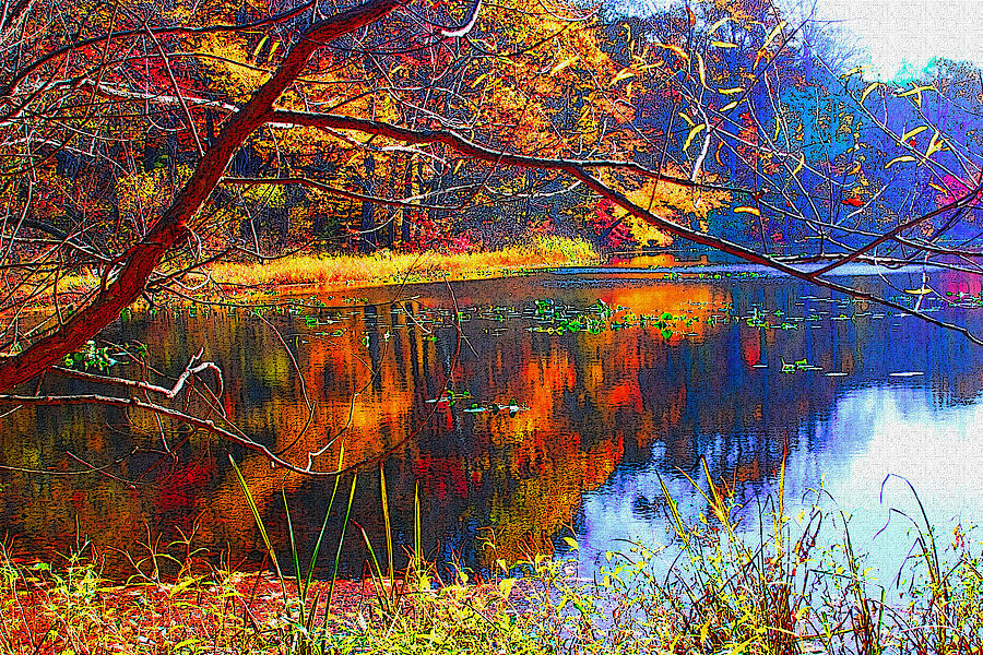 Fall Photograph - Fall At Surprise Lake by Michael Dantuono