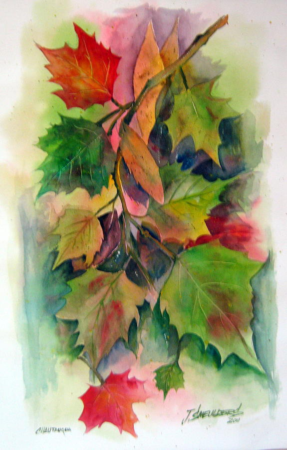 Leaves Painting - Fall Colors by John Smeulders