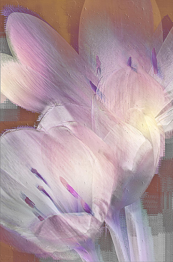 Digital Painting Digital Art - Fall Crocus by Jill Balsam