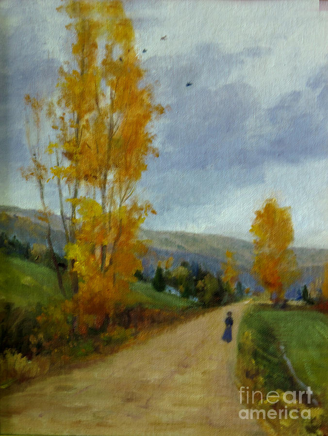 Fall Day Painting by Victoria  Broyles