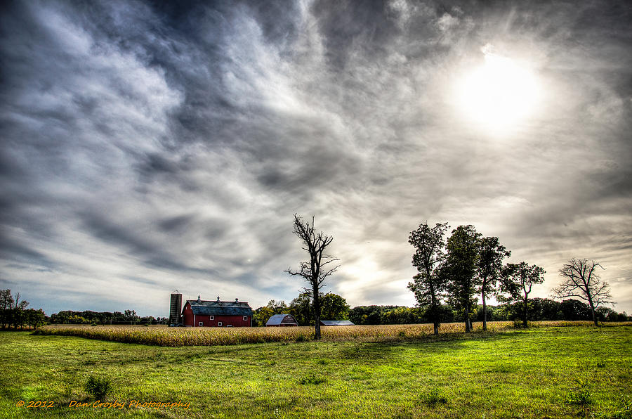 Landscape Photograph - Fall Farm View by Dan Crosby
