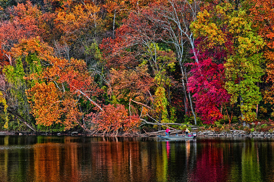 Ow Photograph - Fall Fishing by Boyd Alexander