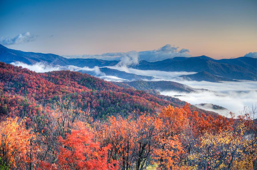 Autumn Photograph - Fall Fog 1 by Joye Ardyn Durham