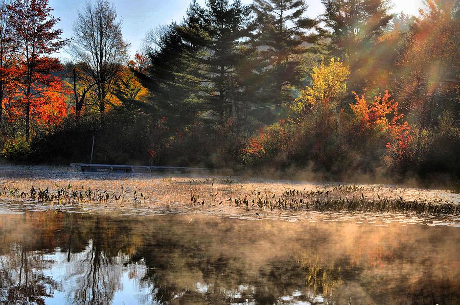 Adirondack Photograph - Fall Fog Rising by Emily Stauring