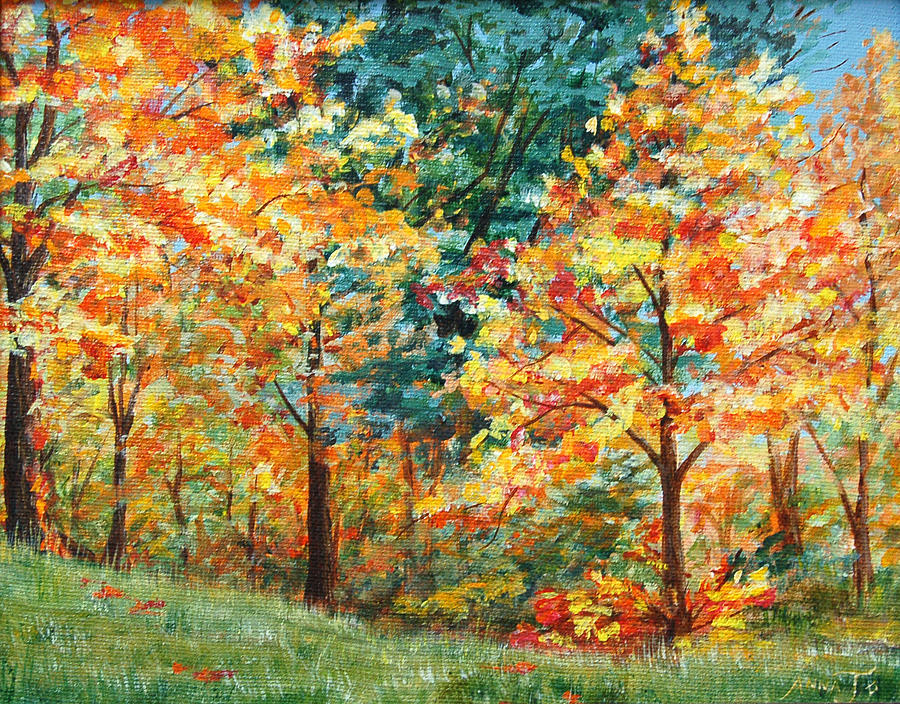 Autumn Painting - Fall Foliage by AnnaJo Vahle