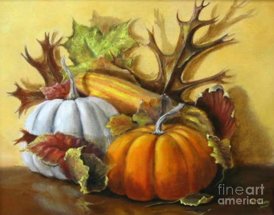 Pumpkin Painting - Fall gatherings by Patricia Lang