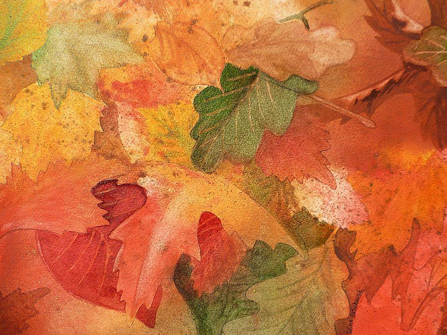 Fall Painting - Fall Impressions II by Irina Sztukowski