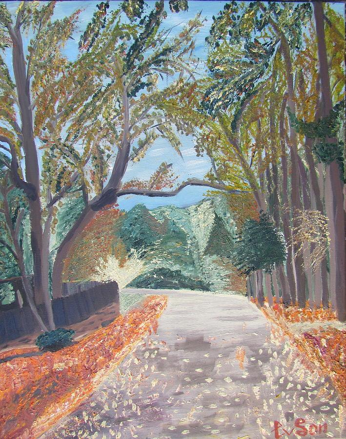Nature Painting - Fall In Tyler by Evgeniya Sohn Bearden