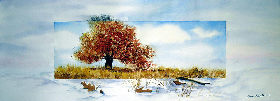 Fall Into Winter Painting By Laura Tasheiko
