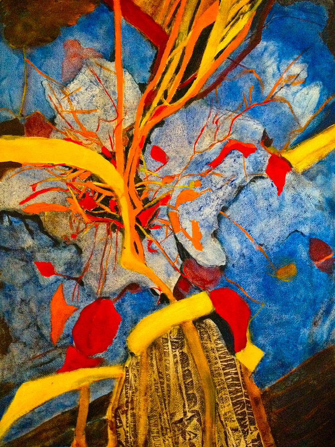 Imaginative Painting - Fall Is On The Air by Giti Ala