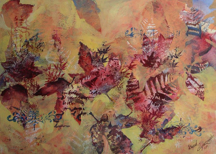 Fall Maples Painting by David Ignaszewski