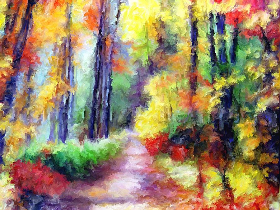 Fall Mixed Media - Fall Melody by Marilyn Sholin