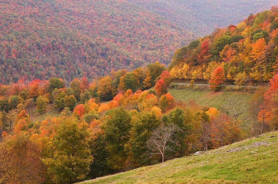 fall mountain scene 5 photograph by john brueske