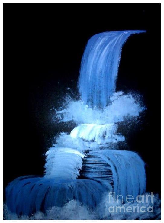 Water Fall Pastel - Fall Of Love. by Deepak Kodapally