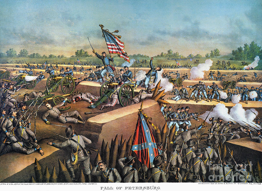 1865 Photograph - Fall Of Petersburg, 1865 by Granger