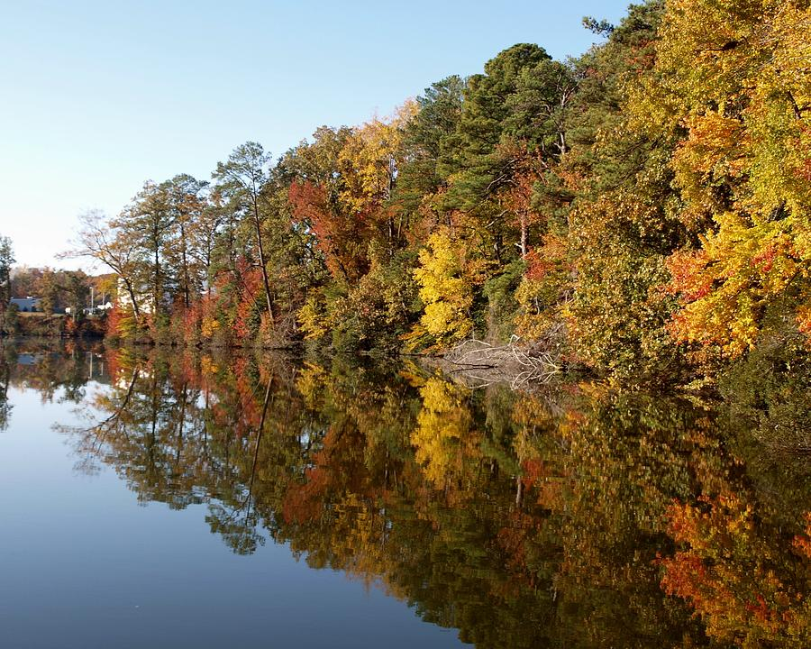 Fall Photograph - Fall Reflections by Larry Krussel