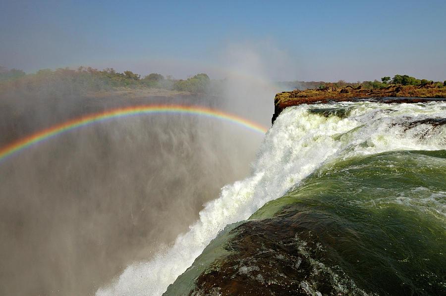 Horizontal Photograph - Falling Down  Falls, Zambia by © Pascal Boegli