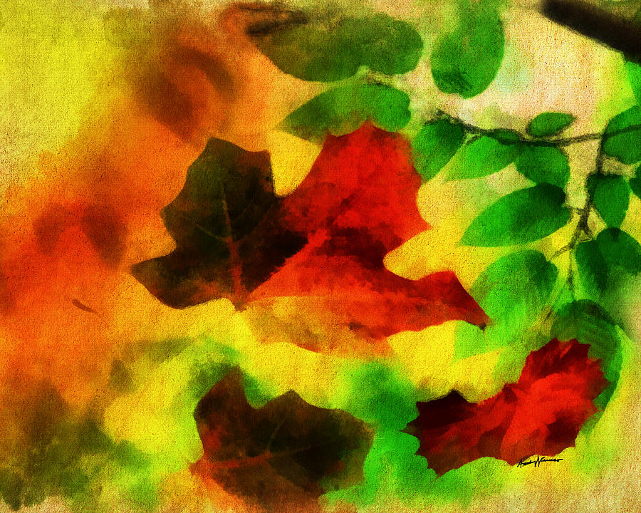 Nature Painting - Falling Leaves by Anthony Caruso