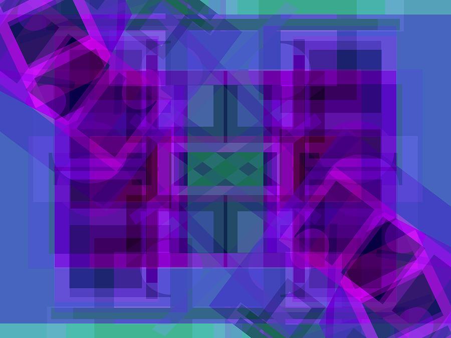 Color Digital Art - Falling Magenta 2 by Lynda Lehmann