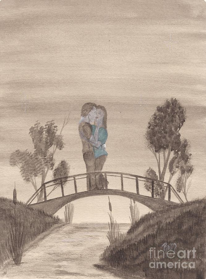 Romance Painting - Falling... by Robert Meszaros