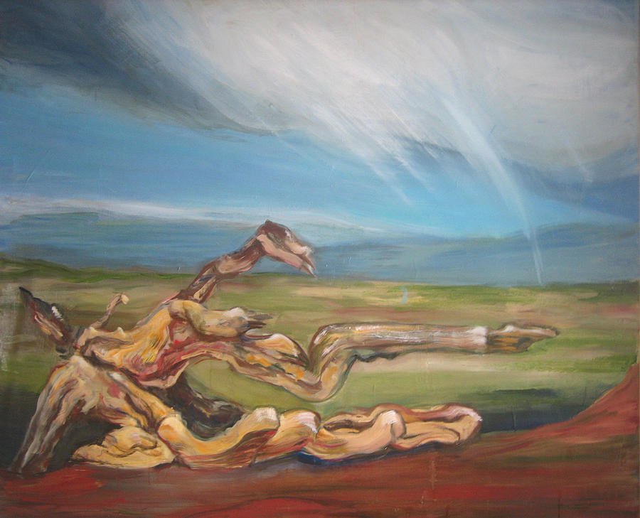 Driftwood Painting - Falling Sky by Sophie Brunet