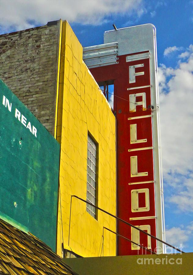 Fallon Photograph - Fallon Nevada Movie Theater by Gregory Dyer