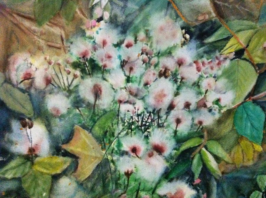 Still Life Painting - Falls  Flower by Giti Ala
