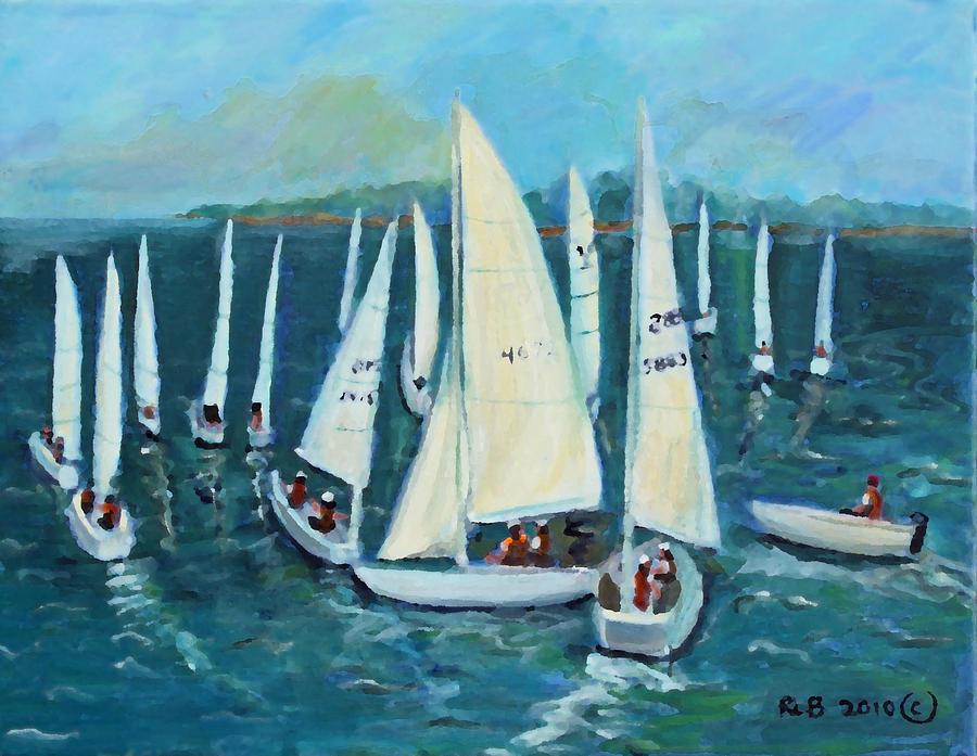 Regatta Painting - Falmouth Regatta by Rita Brown