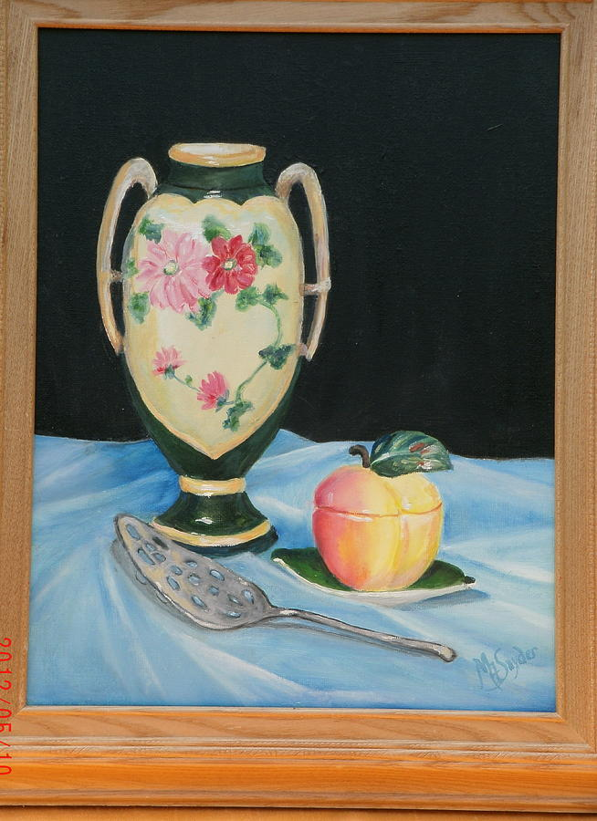 Still Life Painting - Family Antiques by Mary ann  Snyder