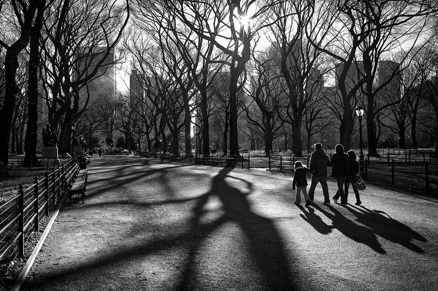 New York Photograph - Family At Central Park In New York City by Ilker Goksen