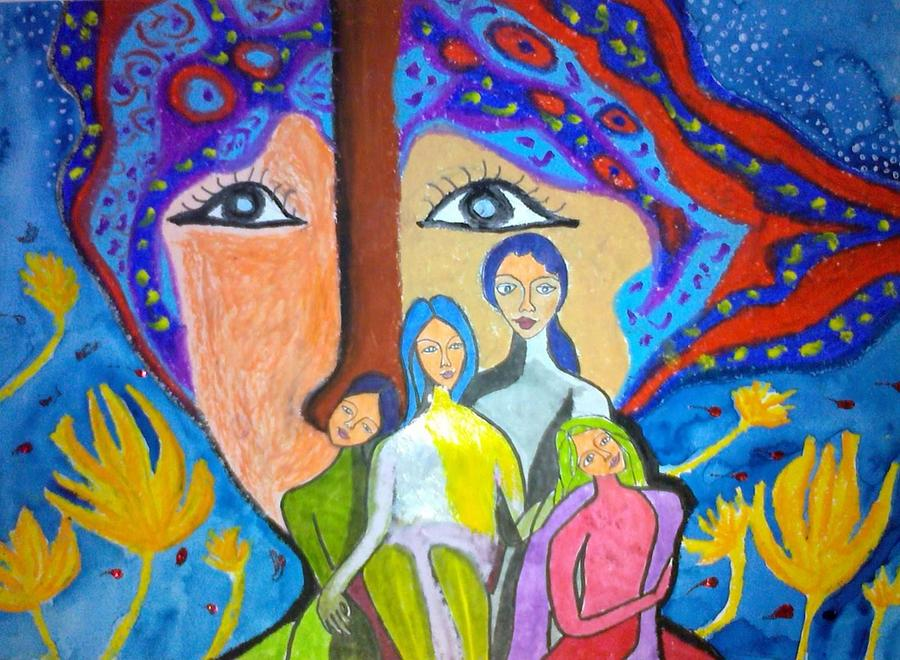 Children Painting - Family Kaleidoscope  by Oliver Wong