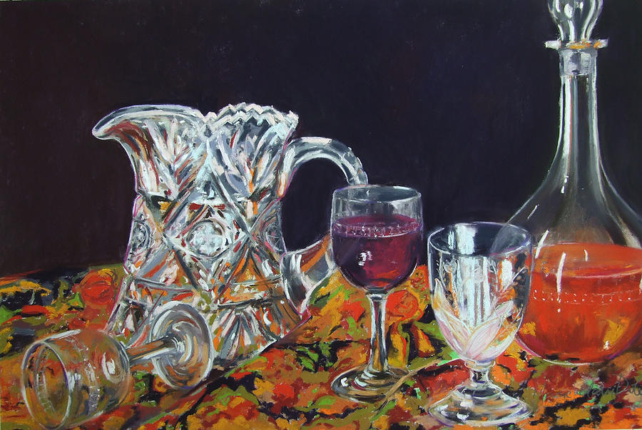 Glass Painting - Family Ties by Marie-Claire Dole