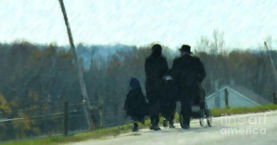 Amish Photograph - Family Time by Debbi Granruth