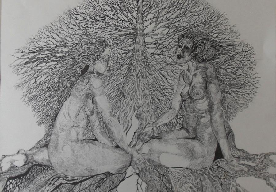 Females Drawing - Family Tree by Michol Childress