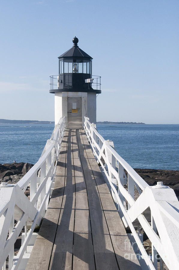 Maine Photograph - Famous Lighthouse by Charles  Ridgway