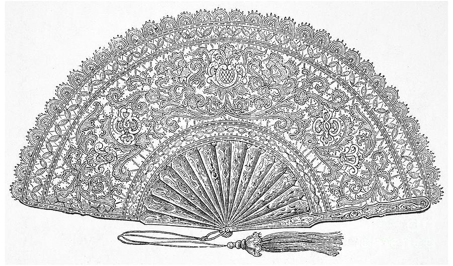 1876 Photograph - Fan, 1876 by Granger