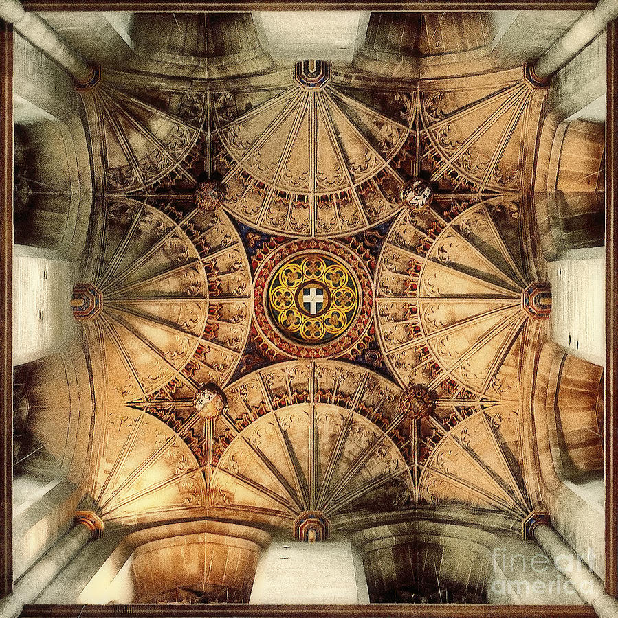 Canterbury Uk Cathedral Kent Vaulting Hdr  Photograph - Fan Vaulting Canterbury Cathedral by Jack Torcello