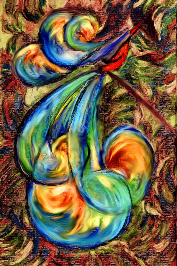 Bird Digital Art - Fanciful Bird by Judi Quelland