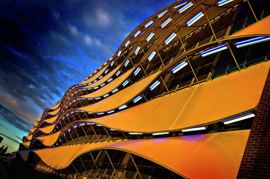 Cardiff Photograph - Fancy Cardiff Carpark Facade by Meirion Matthias