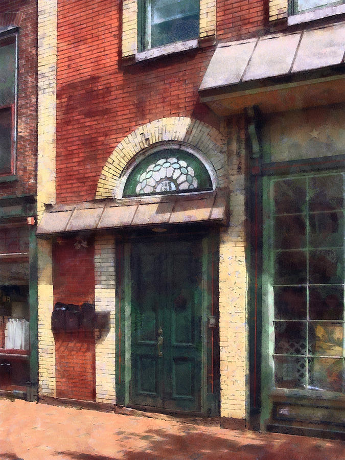 Door Photograph - Fancy Green Door Burlington Nj by Susan Savad