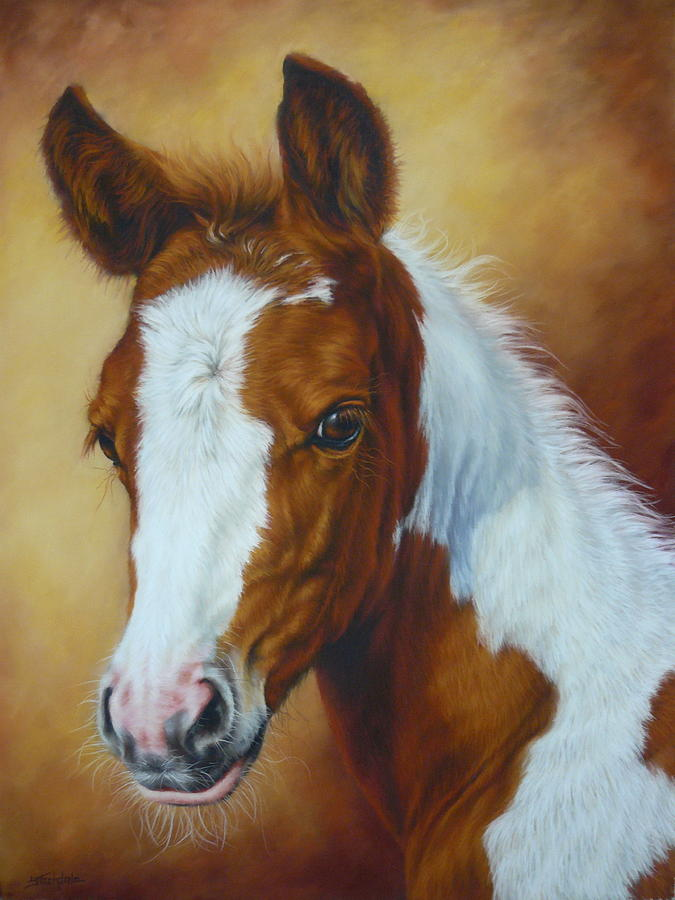 Horse Painting - Fancy Portrait by Margaret Stockdale