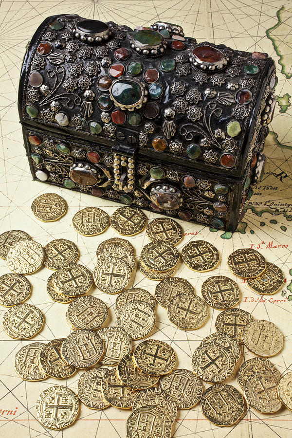 Treasure Photograph - Fancy Treasure Chest  by Garry Gay