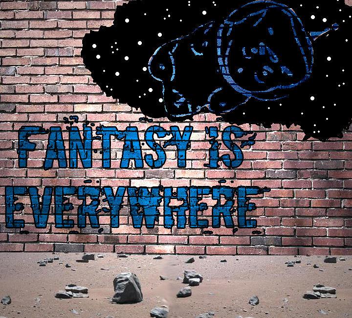 Fantasy Painting - Fantasy Is Everywhere Graffiti by Jera Sky
