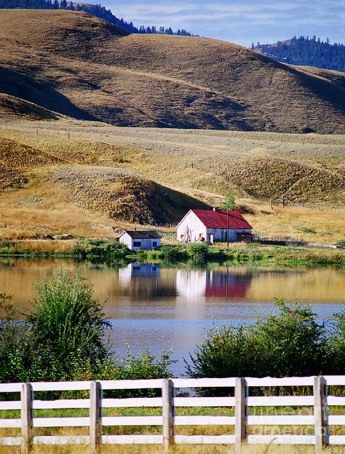 farm house on the lake photograph by randy harris