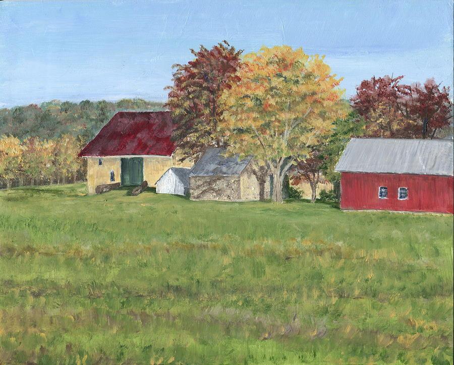 Bucks County Painting - Farm On Ridge Road by Margie Perry
