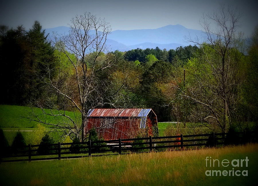 Blue Ridge Mountains Photograph - Farm With A View by Crystal Joy Photography