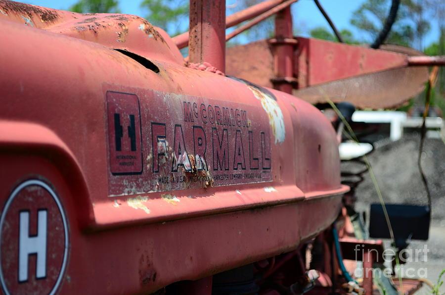 Farmall Photograph - Farmall Logo by Lynda Dawson-Youngclaus